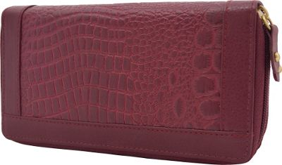 Great American Leatherworks Double Zip Around Clutch Bayberry - Great American Leatherworks Women's Wallets