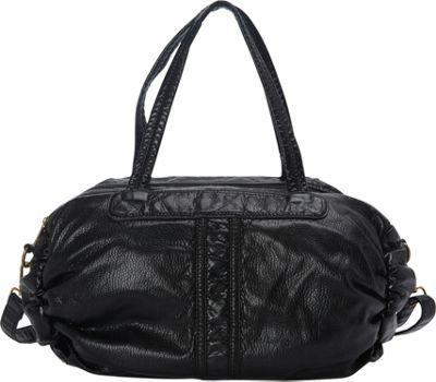 nu G Washed Oversized Tote Bag Black - nu G Manmade Handbags
