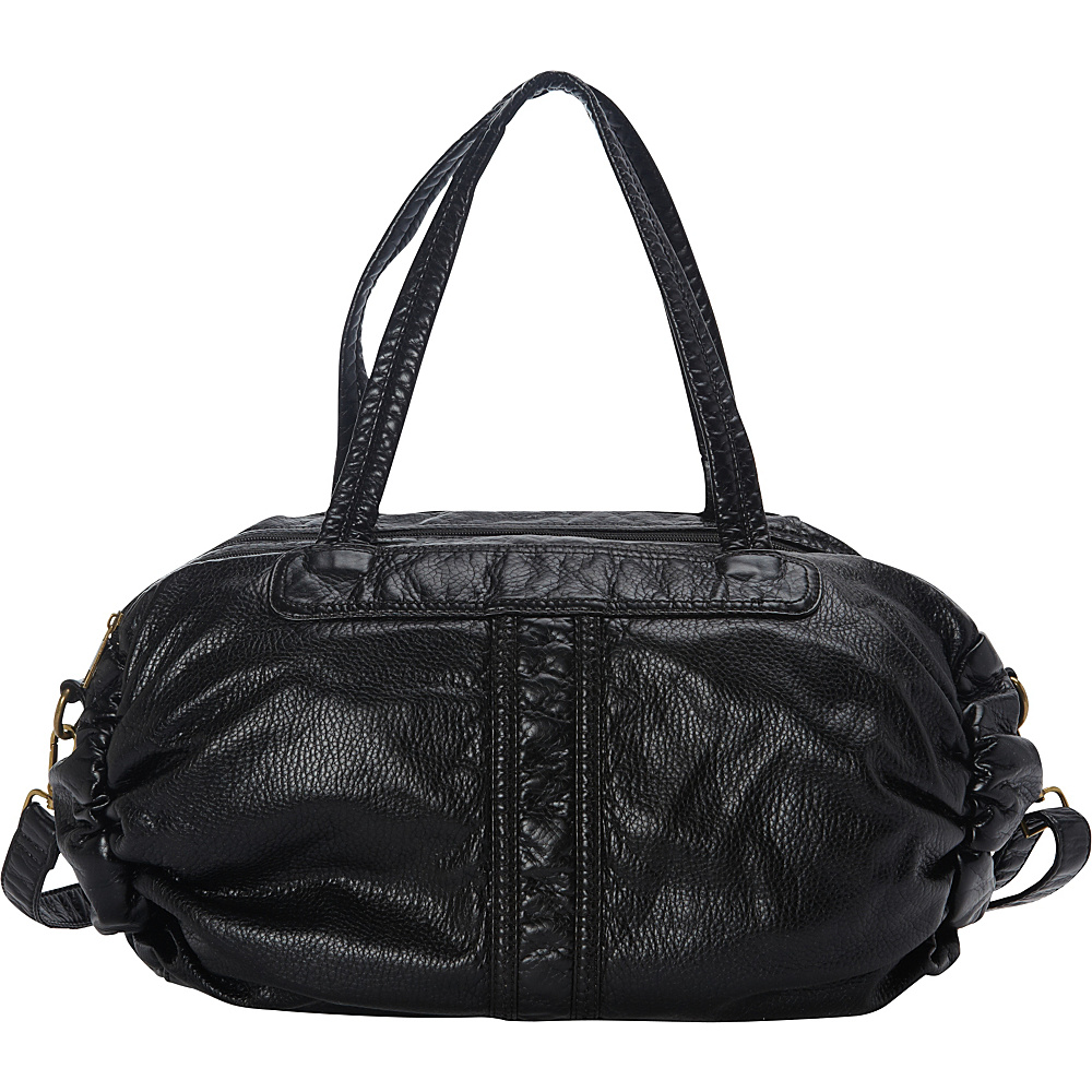 nu G Washed Oversized Tote Bag Black - nu G Manmade Handbags
