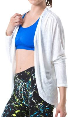 Electric Yoga Open Cardigan S - White - Electric Yoga Men's Apparel