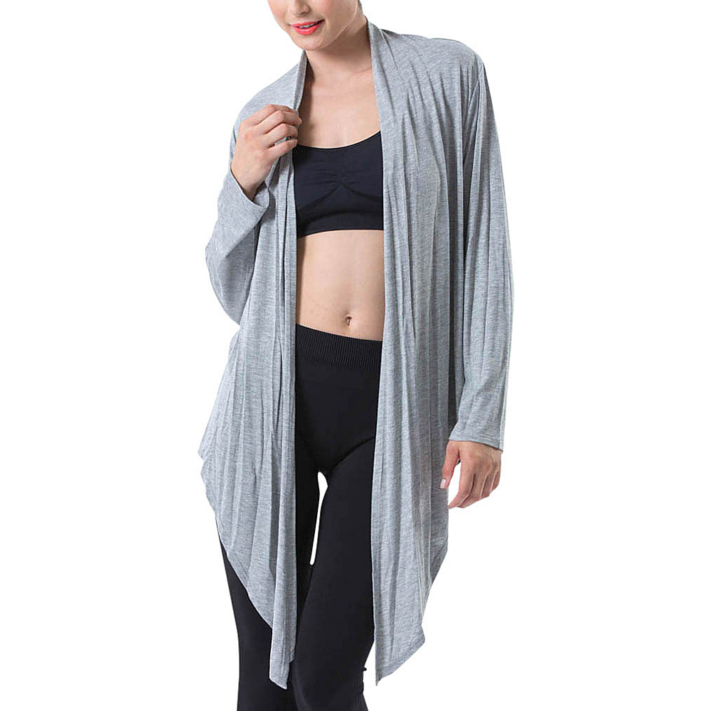 Electric Yoga 5 Way Drape Wrap M Heather Grey Electric Yoga Women s Apparel