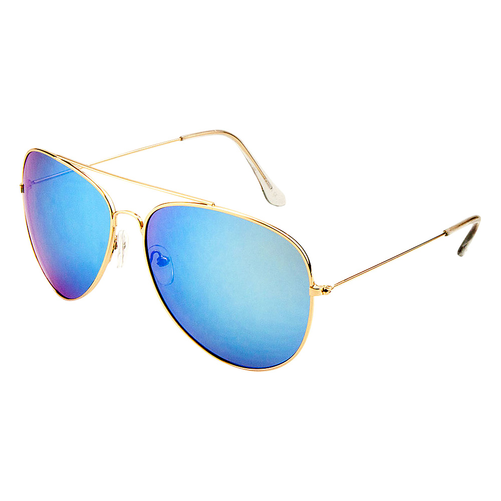 SW Global Eyewear Juan Double Bridge Aviator Fashion Sunglasses Blue - SW Global Sunglasses - Fashion Accessories, Sunglasses