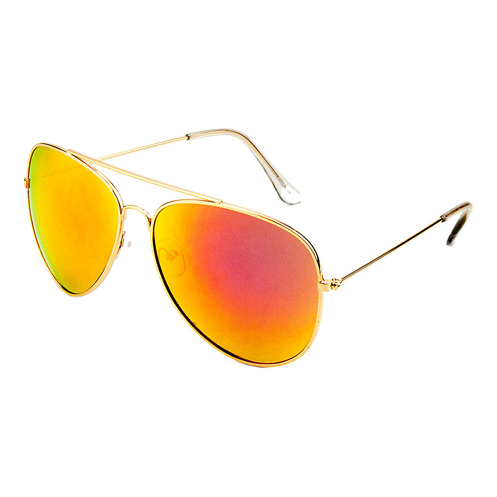 SW Global Eyewear Juan Double Bridge Aviator Fashion Sunglasses Orange - SW Global Sunglasses - Fashion Accessories, Sunglasses
