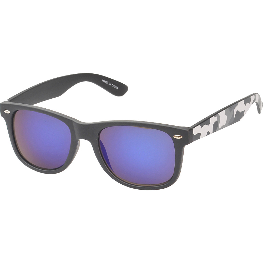 SW Global Eyewear Baldwin Retro Square Camouflage Fashion Sunglasses Grey - SW Global Sunglasses - Fashion Accessories, Sunglasses