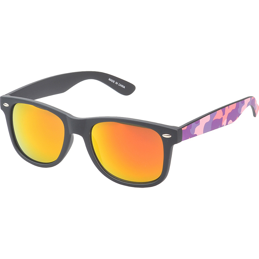 SW Global Eyewear Baldwin Retro Square Camouflage Fashion Sunglasses Pink - SW Global Sunglasses - Fashion Accessories, Sunglasses