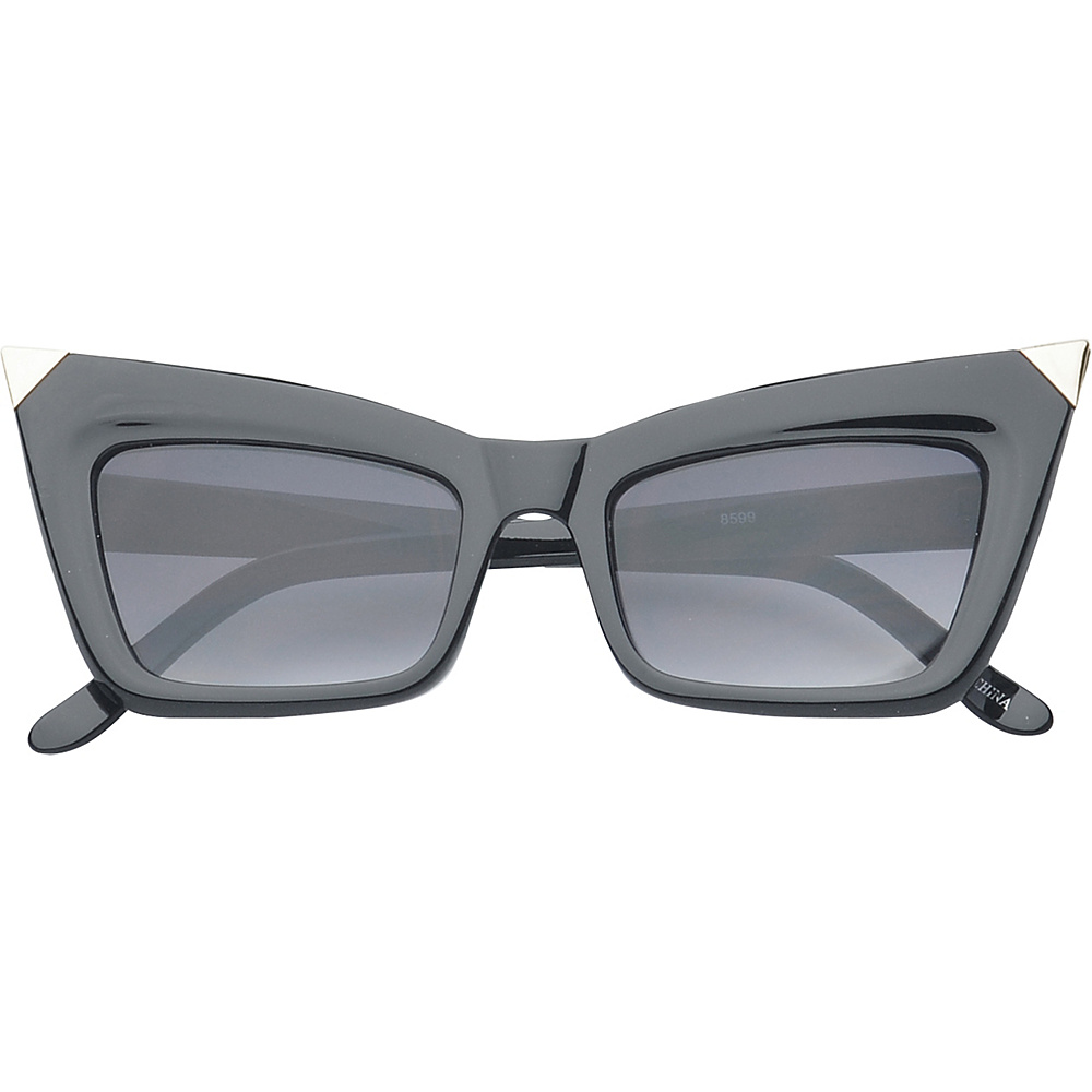 SW Global Eyewear Orville Cat Eye Fashion Sunglasses Black Silver - SW Global Sunglasses - Fashion Accessories, Sunglasses