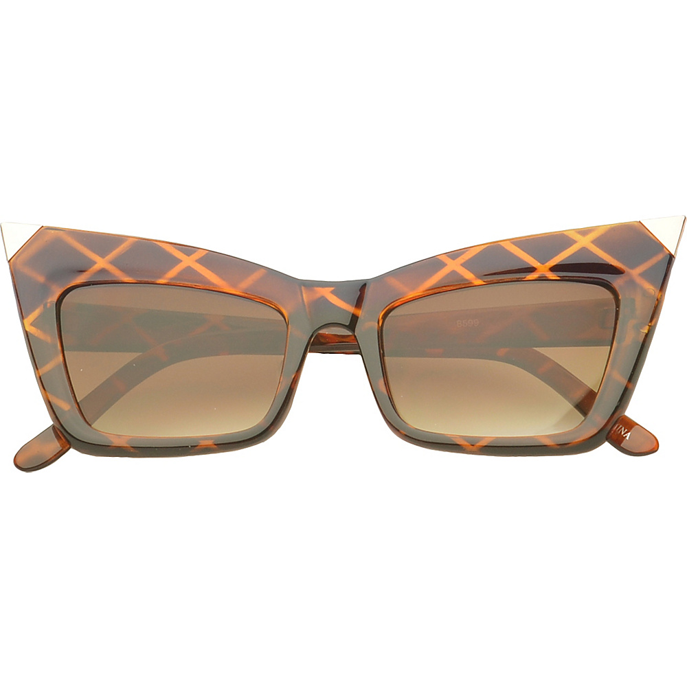 SW Global Eyewear Orville Cat Eye Fashion Sunglasses Brown - SW Global Sunglasses - Fashion Accessories, Sunglasses