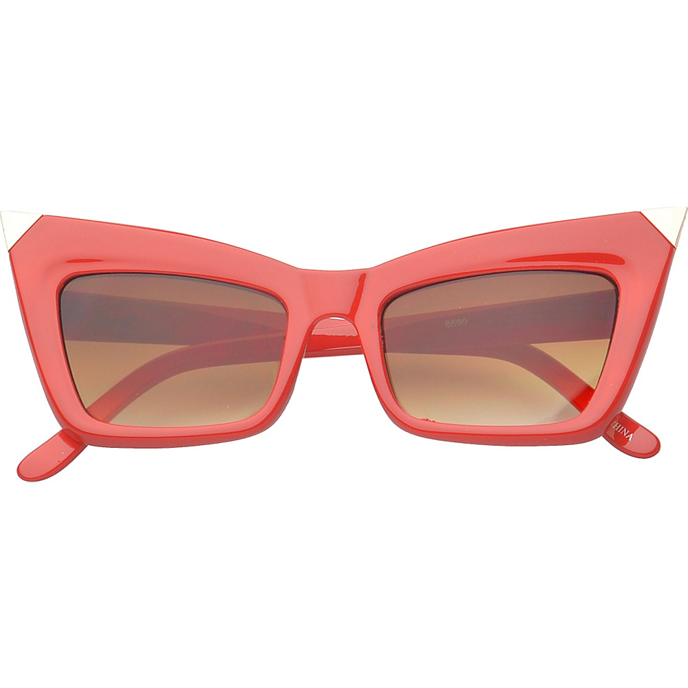 SW Global Eyewear Orville Cat Eye Fashion Sunglasses Red - SW Global Sunglasses - Fashion Accessories, Sunglasses