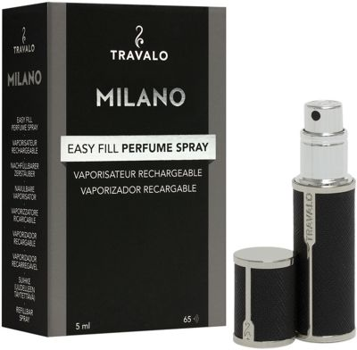 Travalo Milano Refillable Perfume Bottle Black - Travalo Travel Health & Beauty
