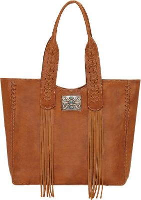 American West Mohave Canyon Large Zip Top Tote Golden Tan - American West Leather Handbags