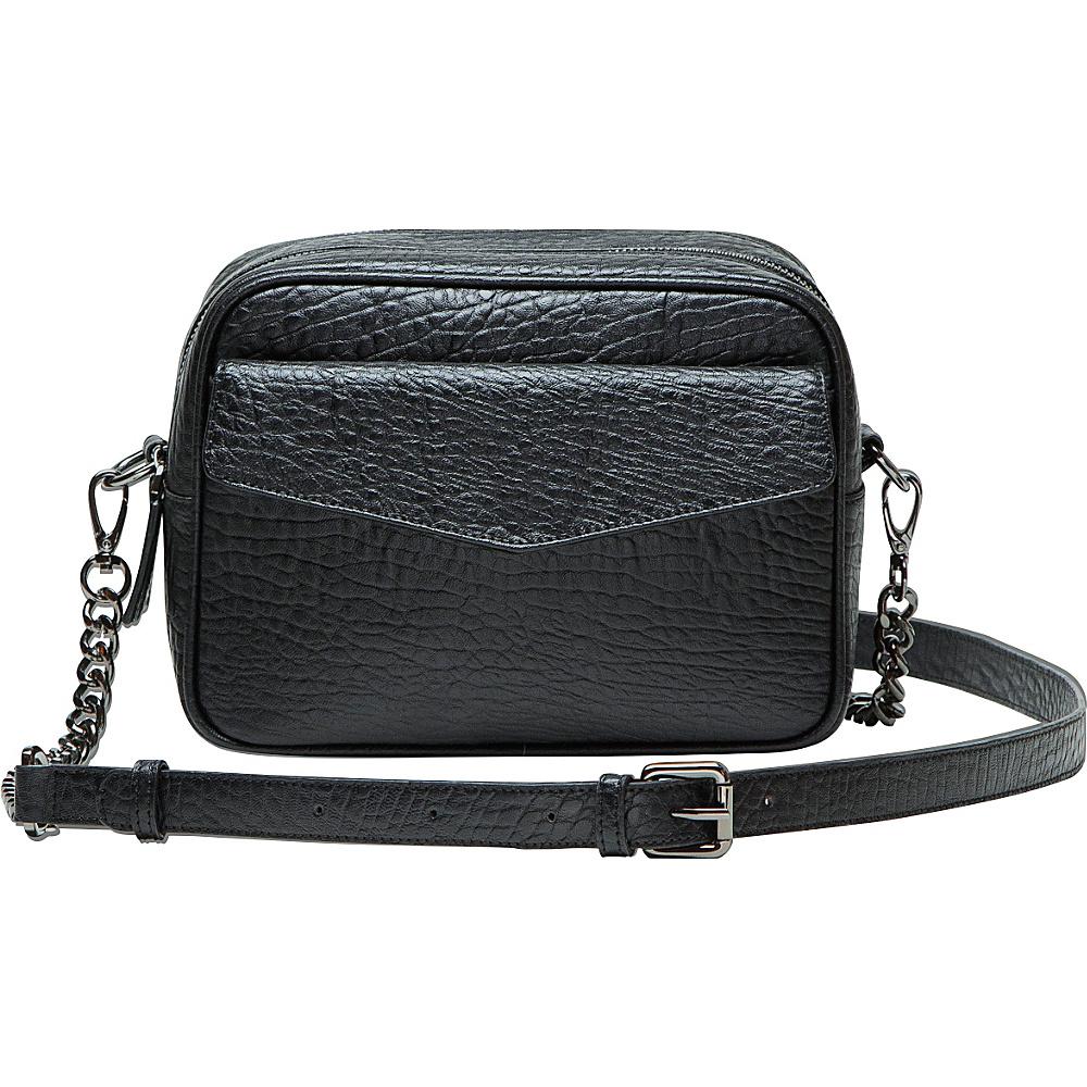 MOFE Orenda Crossbody Black Gunmetal MOFE Leather Handbags