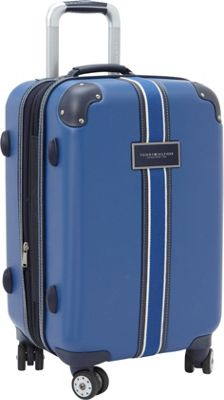 Tommy Hilfiger Luggage Classic Hardside 21 Carry-On Spinner Blue - Tommy Hilfiger Luggage Hardside Carry-On