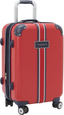 Tommy Hilfiger Luggage Classic Hardside 21 Carry-On Spinner Red - Tommy Hilfiger Luggage Hardside Carry-On