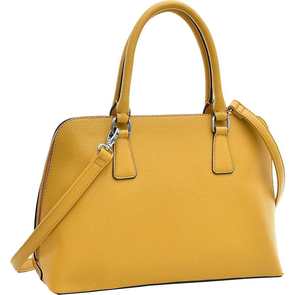 Dasein Buffalo Faux Leather Zip-Around Handbag Tan - Dasein Manmade Handbags - Handbags, Manmade Handbags