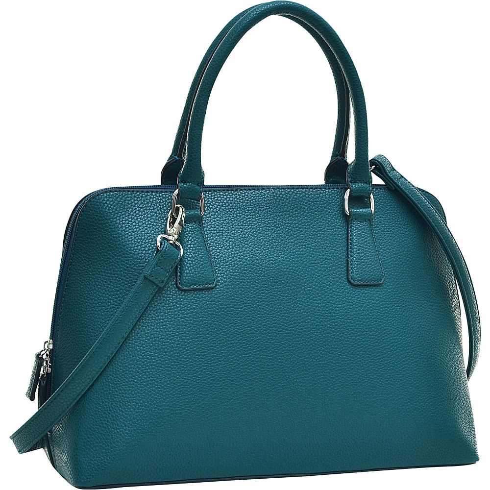 Dasein Buffalo Faux Leather Zip-Around Handbag Green - Dasein Manmade Handbags - Handbags, Manmade Handbags