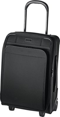 Hartmann Luggage Ratio Domestic Expandable Upright True Black - Hartmann Luggage Softside Carry-On