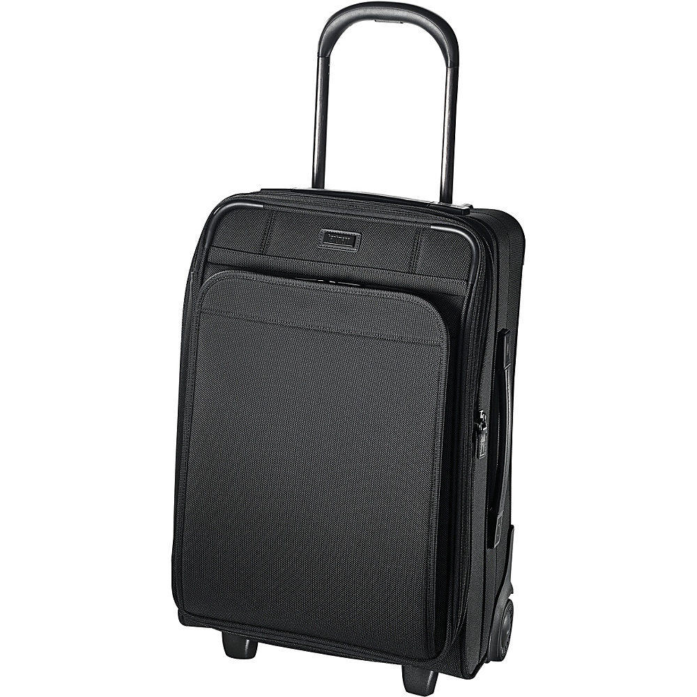 Hartmann Luggage Ratio Domestic Expandable Upright True Black Hartmann Luggage Softside Carry On