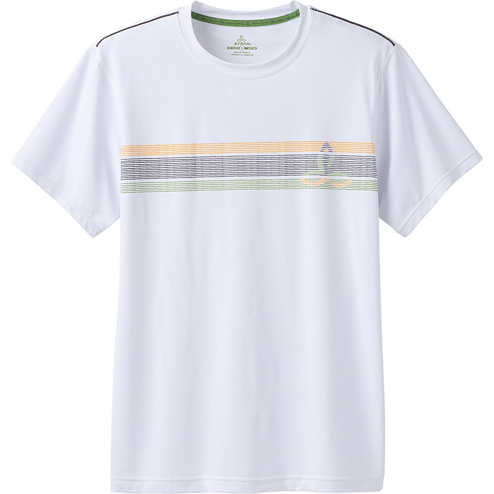 PrAna Calder Short Sleeve Shirt S - White - PrAna Mens Apparel - Apparel & Footwear, Men's Apparel