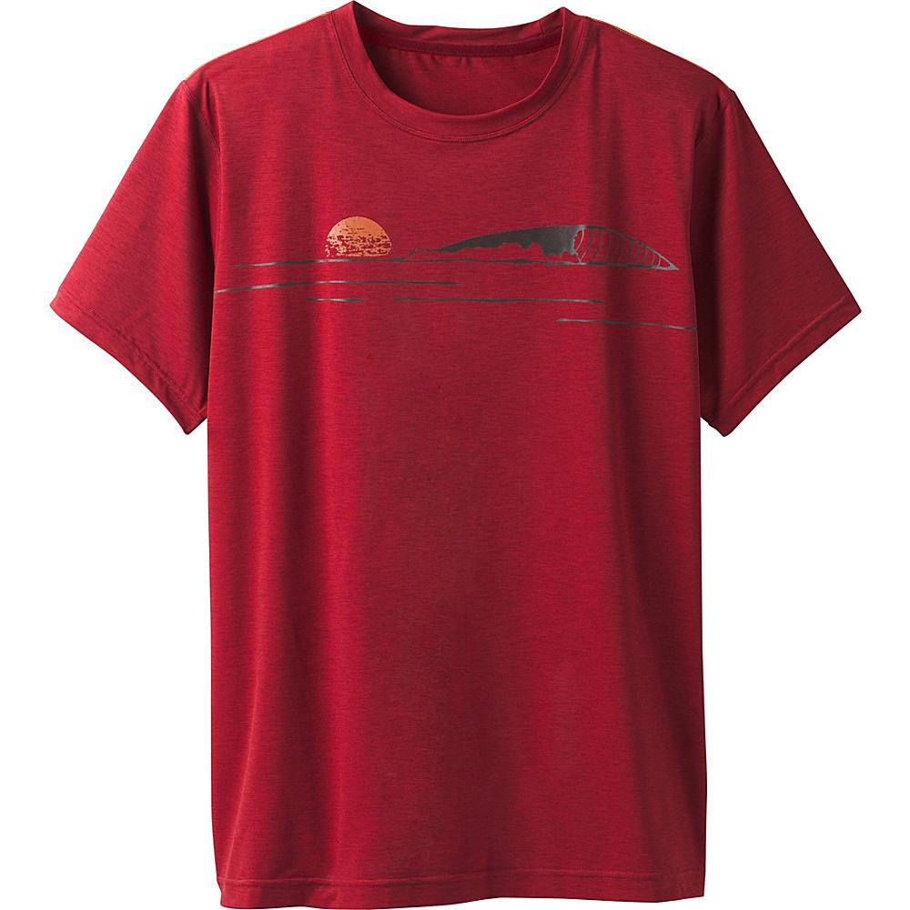 PrAna Calder Short Sleeve Shirt XXL - Crimson - PrAna Mens Apparel - Apparel & Footwear, Men's Apparel