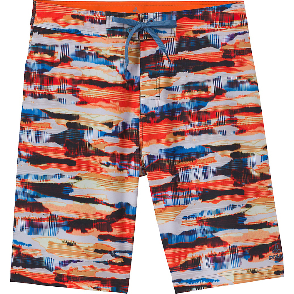 PrAna Sediment Shorts 34 - Orange Crush Indian Summer - PrAna Mens Apparel - Apparel & Footwear, Men's Apparel