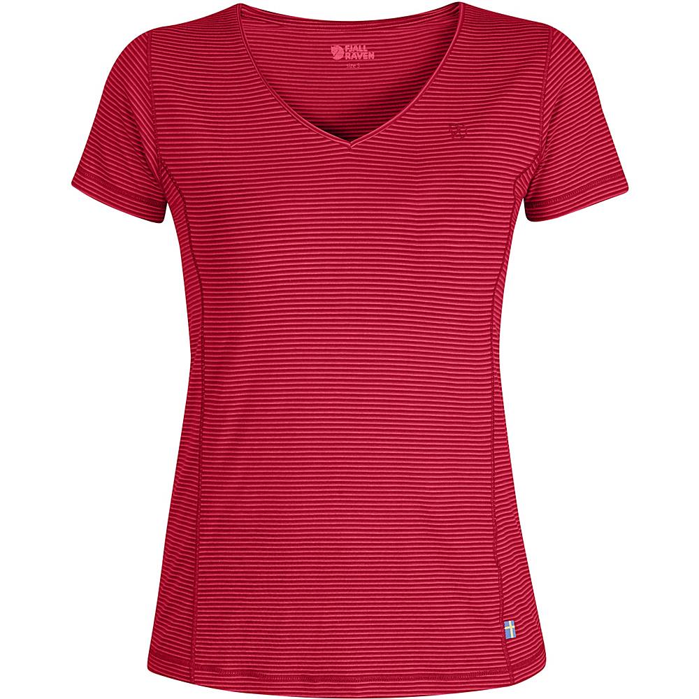 Fjallraven Womens Abisko Cool T-Shirt XS - Coral - XSmall - Fjallraven Womens Apparel - Apparel & Footwear, Women's Apparel