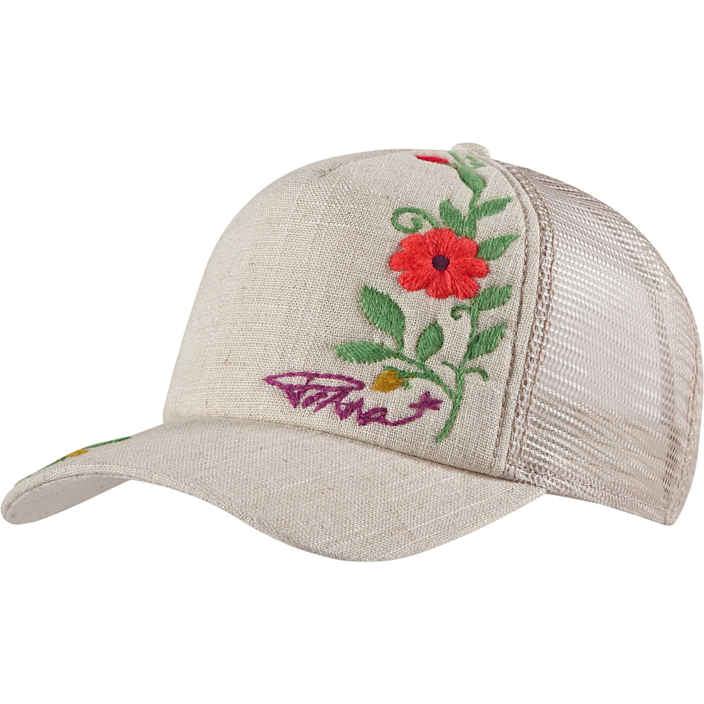 PrAna Embroidered Trucker Hat One Size - Sand - PrAna Hats/Gloves/Scarves - Fashion Accessories, Hats/Gloves/Scarves