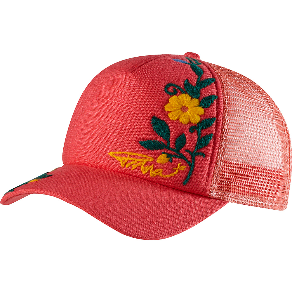 PrAna Embroidered Trucker Hat One Size - Cosmo Pink - PrAna Hats/Gloves/Scarves - Fashion Accessories, Hats/Gloves/Scarves