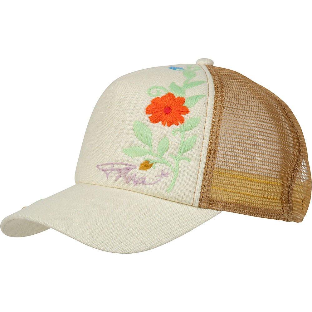 PrAna Embroidered Trucker Hat One Size - Stone - PrAna Hats/Gloves/Scarves - Fashion Accessories, Hats/Gloves/Scarves