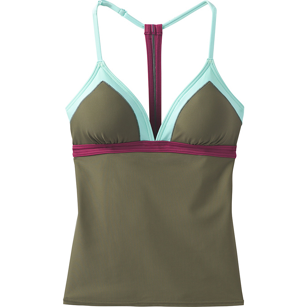 PrAna Aleka Tankini L - Cargo Green Color Block - PrAna Womens Apparel - Apparel & Footwear, Women's Apparel