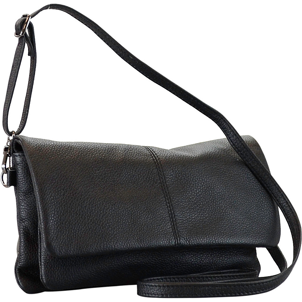 R R Collections Genuine Leather Crossbody Black R R Collections Leather Handbags