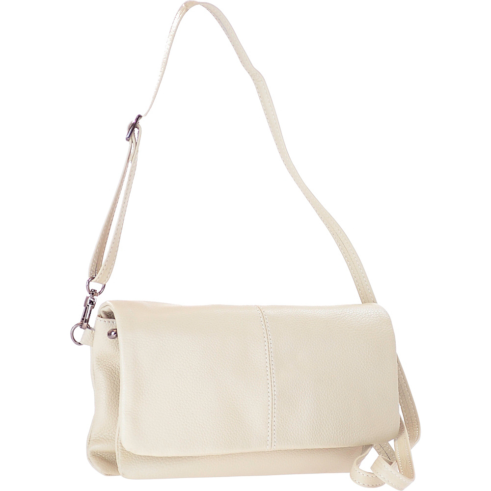 R R Collections Genuine Leather Crossbody Beige R R Collections Leather Handbags