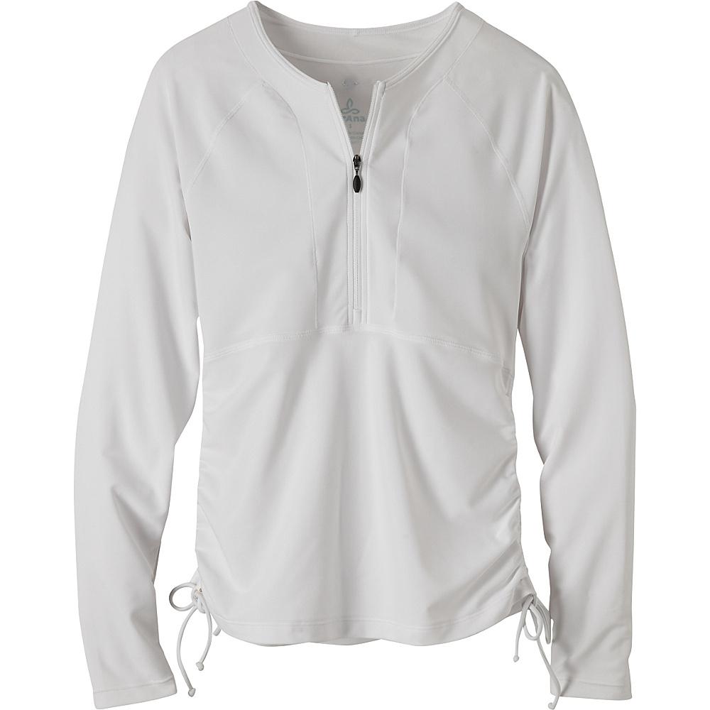 PrAna Arwyn Long Sleeve Sun Top L - White - PrAna Womens Apparel - Apparel & Footwear, Women's Apparel