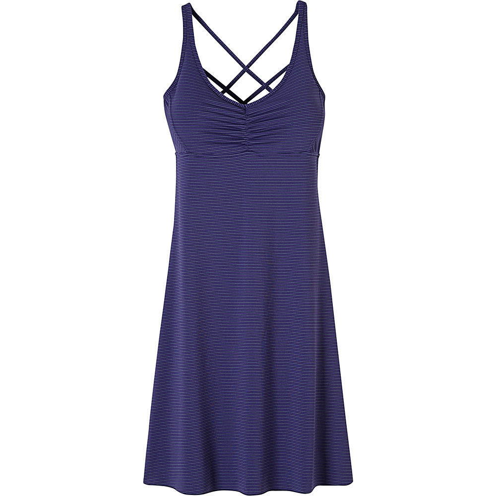 PrAna Rebecca Dress XL - Indigo Pinstripe - PrAna Womens Apparel - Apparel & Footwear, Women's Apparel