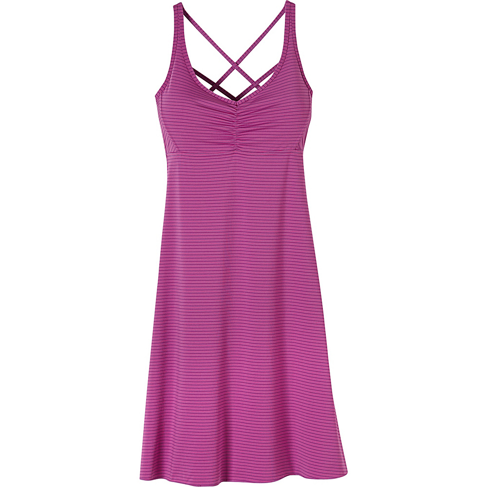 PrAna Rebecca Dress XL - Orchid Pinstripe - PrAna Womens Apparel - Apparel & Footwear, Women's Apparel