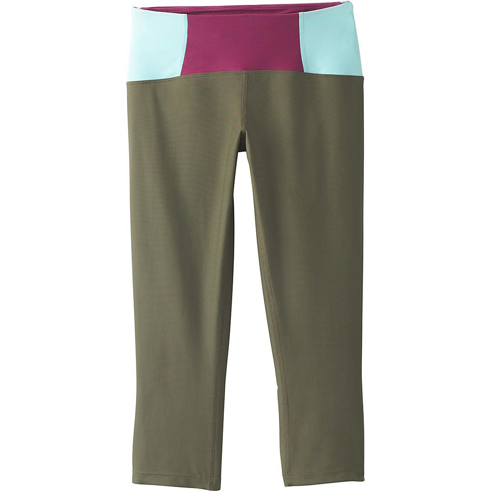 PrAna Rai Swim Tight XS - Cargo Green Color Block - PrAna Womens Apparel - Apparel & Footwear, Women's Apparel