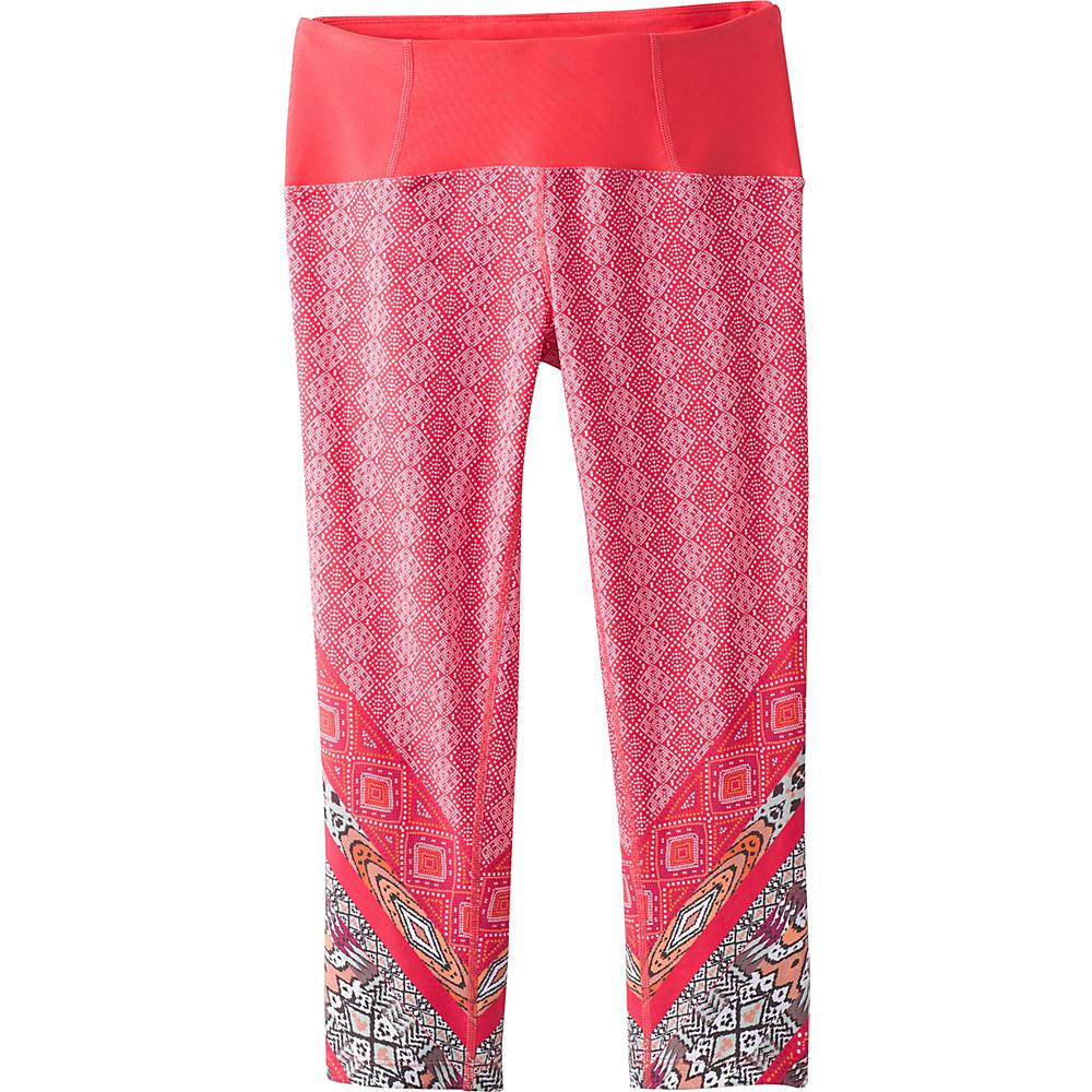 PrAna Rai Swim Tight XS - Carmine Pink Marrakesh - PrAna Womens Apparel - Apparel & Footwear, Women's Apparel