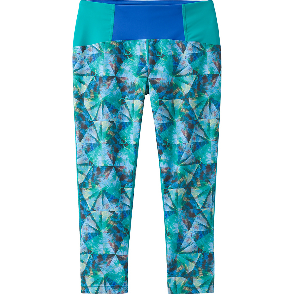 PrAna Rai Swim Tight S - Emerald Pinwheel - PrAna Womens Apparel - Apparel & Footwear, Women's Apparel