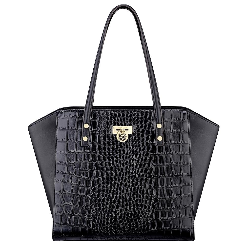 Anne Klein Total Look Large Tote Black/Black - Anne Klein Manmade Handbags