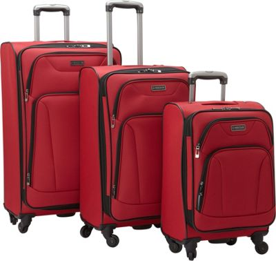 Heritage Wicker Park 3-Piece Luggage Set Red - Heritage Luggage Sets
