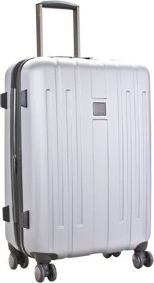 Calvin Klein Luggage Cortlandt 3.0 28 Upright Hardside Spinner Silver - Calvin Klein Luggage Hardside Checked