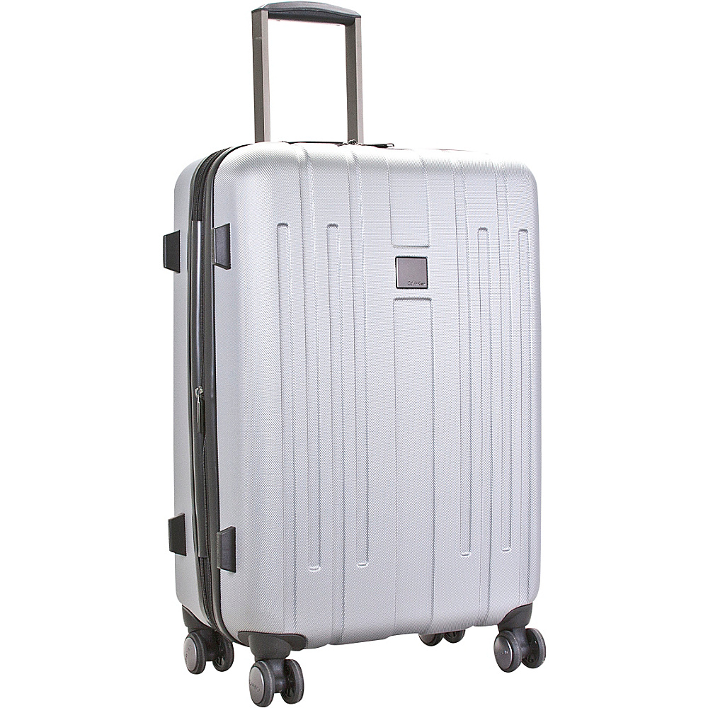 Calvin Klein Luggage Cortlandt 3.0 28 Upright Hardside Spinner Silver Calvin Klein Luggage Hardside Checked