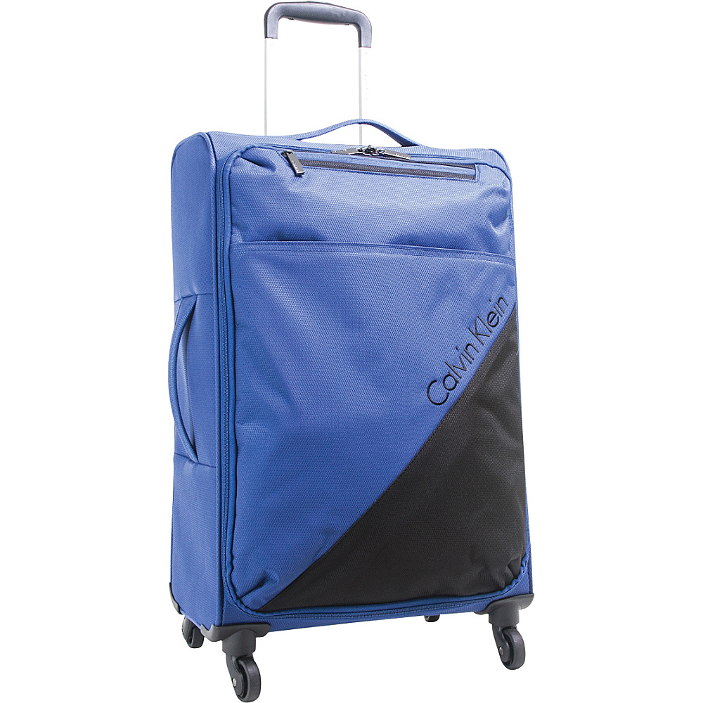Calvin Klein Luggage Chelsea 25 Upright Softside Spinner Navy - Calvin Klein Luggage Large Rolling Luggage