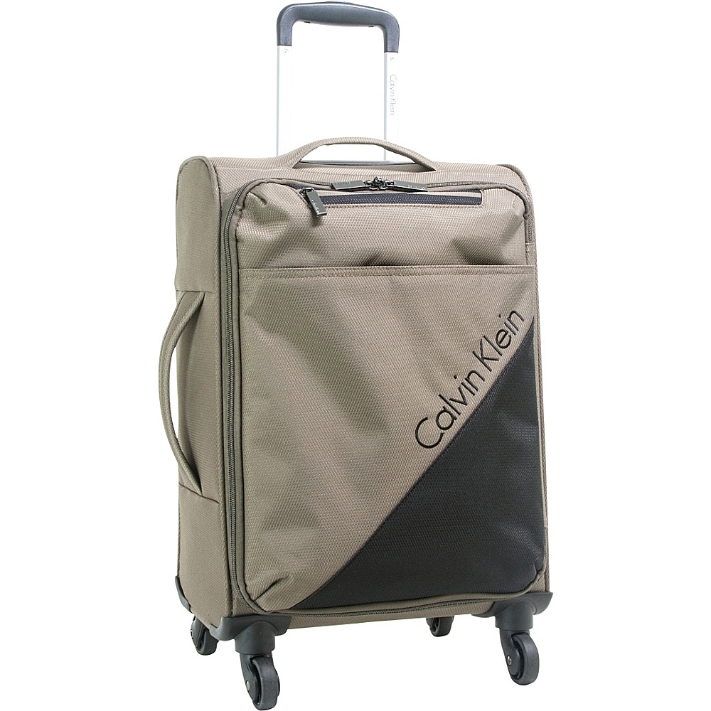Calvin Klein Luggage Chelsea 25 Upright Softside Spinner Tobacco - Calvin Klein Luggage Large Rolling Luggage