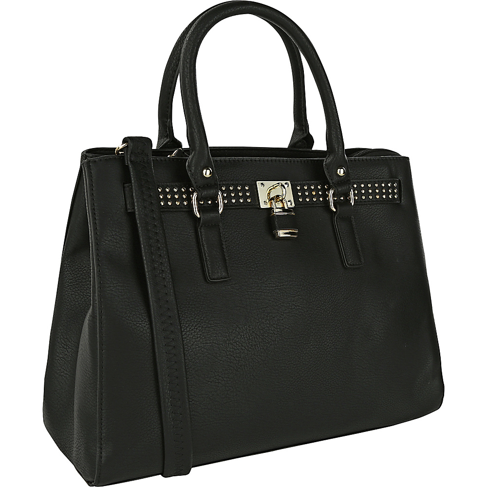 MKF Collection Daisy Satchel Black MKF Collection Manmade Handbags
