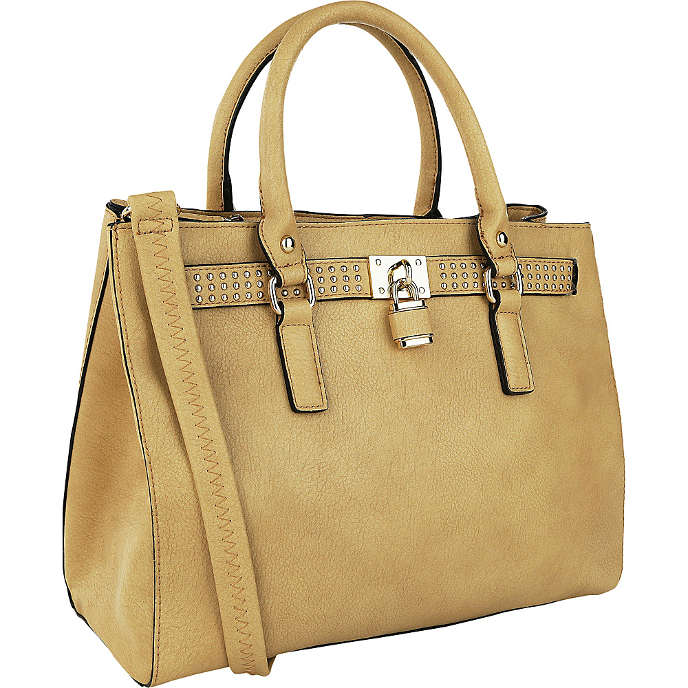 MKF Collection Daisy Satchel Tan MKF Collection Manmade Handbags