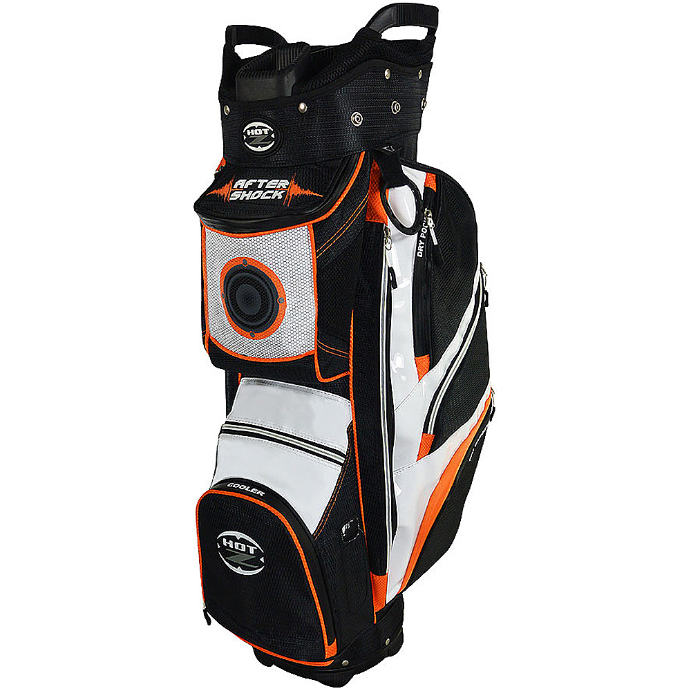 Hot-Z Golf Bags After Shock Cart Bag Orange - Hot-Z Golf Bags Golf Bags