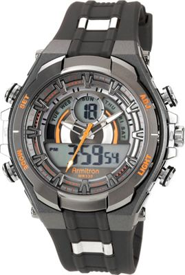Armitron Sport Mens Watch with Black Band Orange - Armitron Watches deal 2016