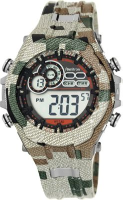 Armitron Sport Mens Digital Chronograph Resin Strap Watch Camoflauge - Armitron Watches