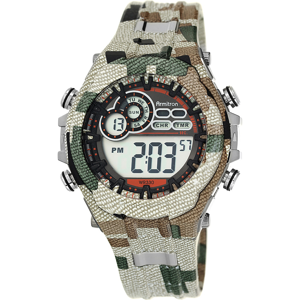 Armitron Sport Mens Digital Chronograph Resin Strap Watch Camoflauge Armitron Watches