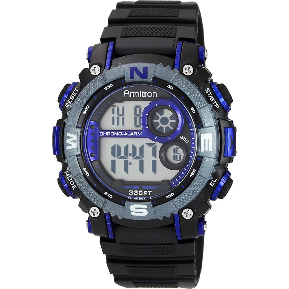 Armitron Sport Mens Digital Chronograph Resin Strap Watch Blue Armitron Watches